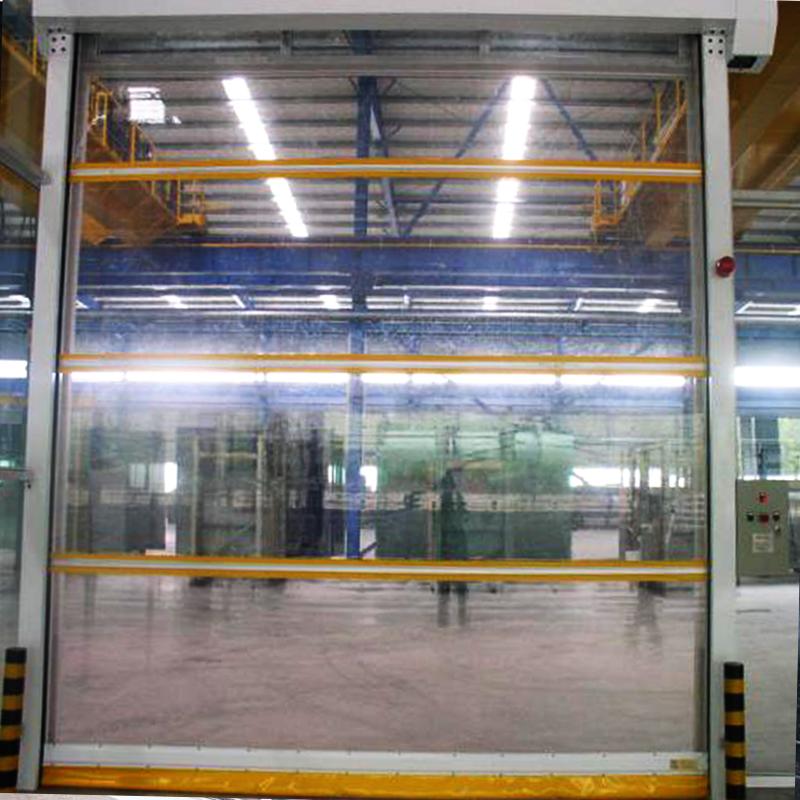 铝制框架透明快速门