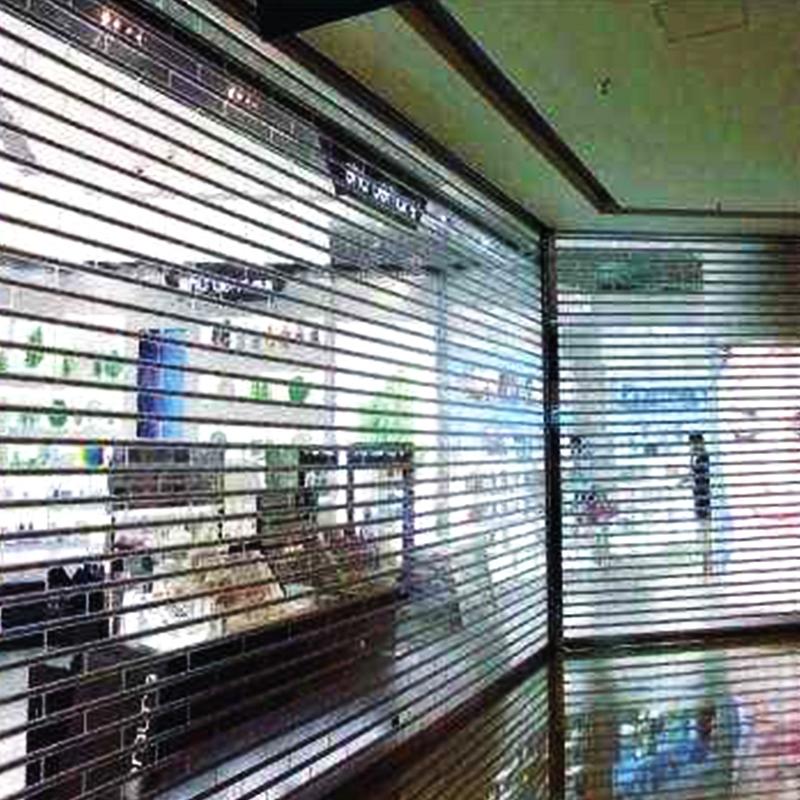 店铺电动透明卷帘门